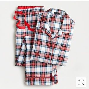 J Crew Flannel pajama set in white-out plaid